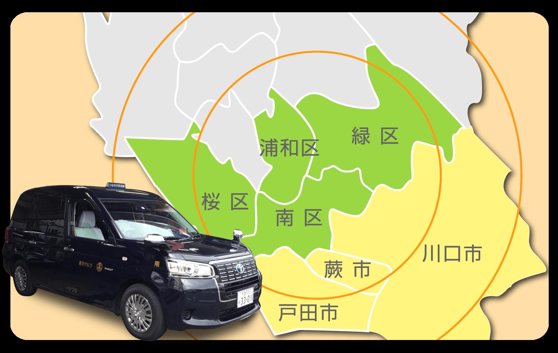 ツルヤ交通配車エリア地図